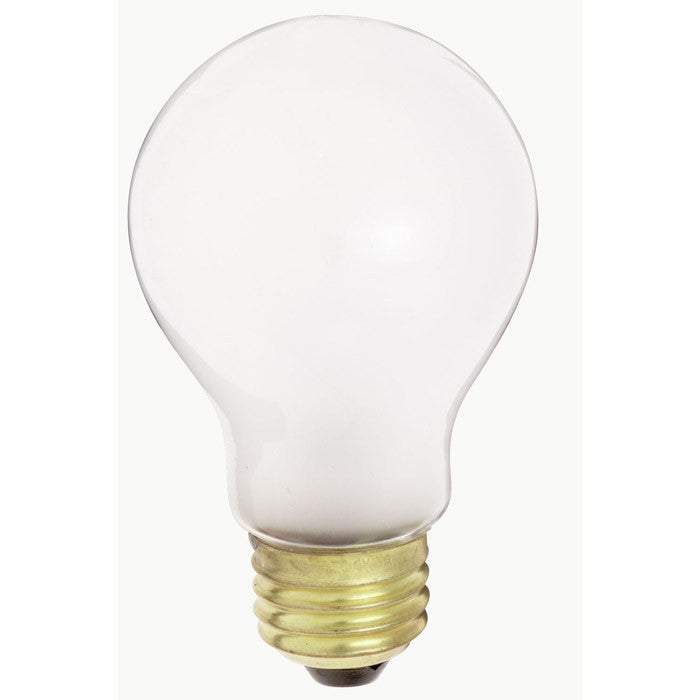 Satco S4078 75W 230V A19 White E26 Medium Base Incandescent light bulb