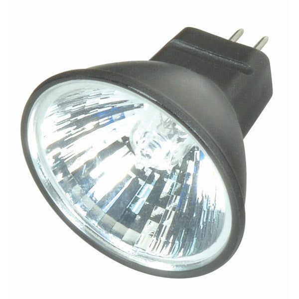 Satco S4173 FTD 20W 12V MR11 Narrow Flood Black Back light bulb