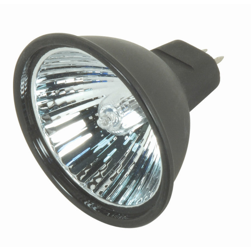Satco S4180 EXN 50W 12V MR16 Flood FL Black Back halogen light bulb