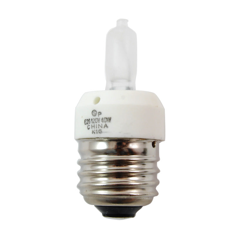 Satco S4311 40W 120V T3 E26 Medium Base Frost halogen light bulb