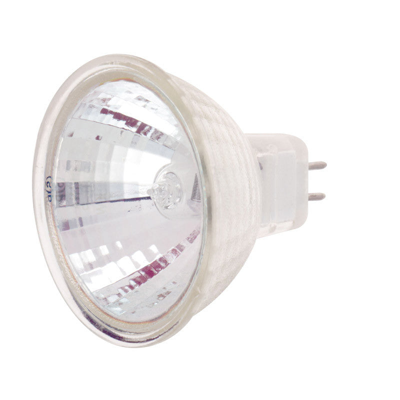 Satco S4354 20W 12V MR16 Frost halogen light bulb