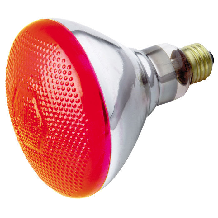 Satco S4424 100W 120V BR38 Red E26 Base Incandescent light bulb