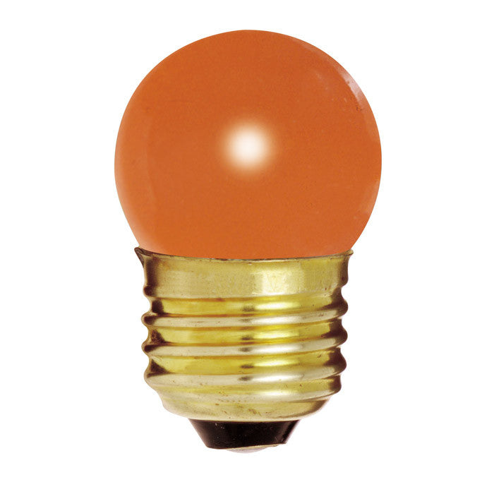 Satco S4510 7.5W 120V S11 Ceramic. Orange E26 Base Incandescent bulb