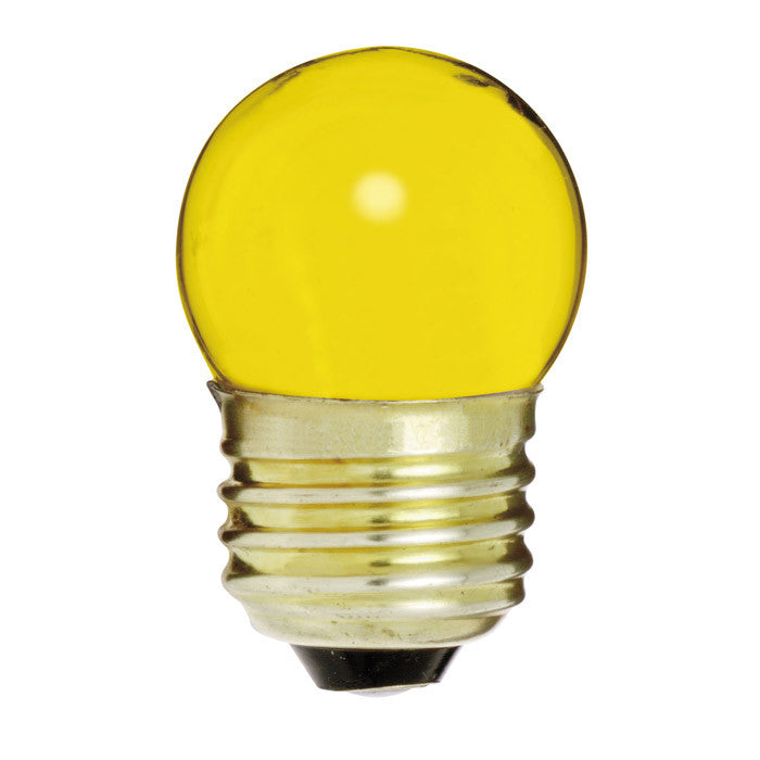 Satco S4512 7.5W 120V S11 Ceramic. Yellow E26 Base Incandescent bulb