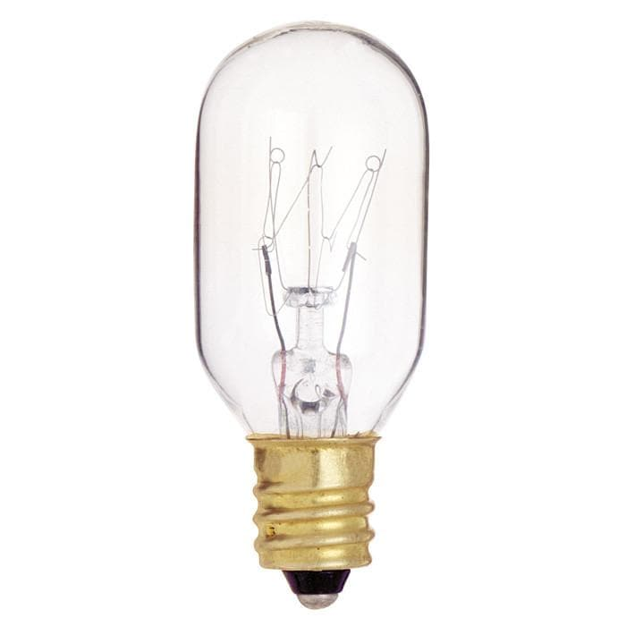 10 Pk - Satco S4718 15W 130V T7 Clear E12 Candelabra Base Incandescent light bulb