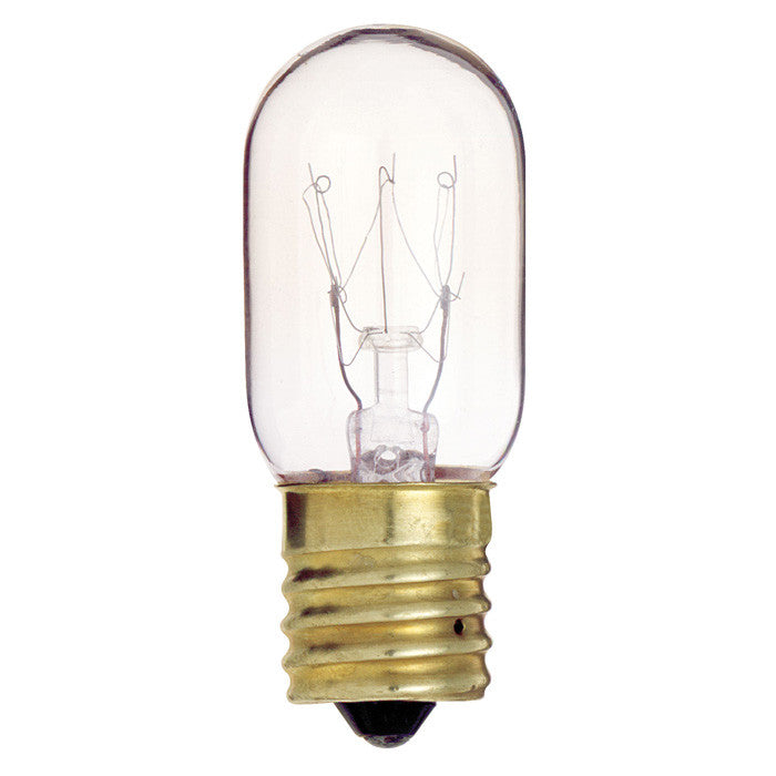 Satco S4722 15W 130V T7 Clear E17 Intermediate Base Incandescent light bulb