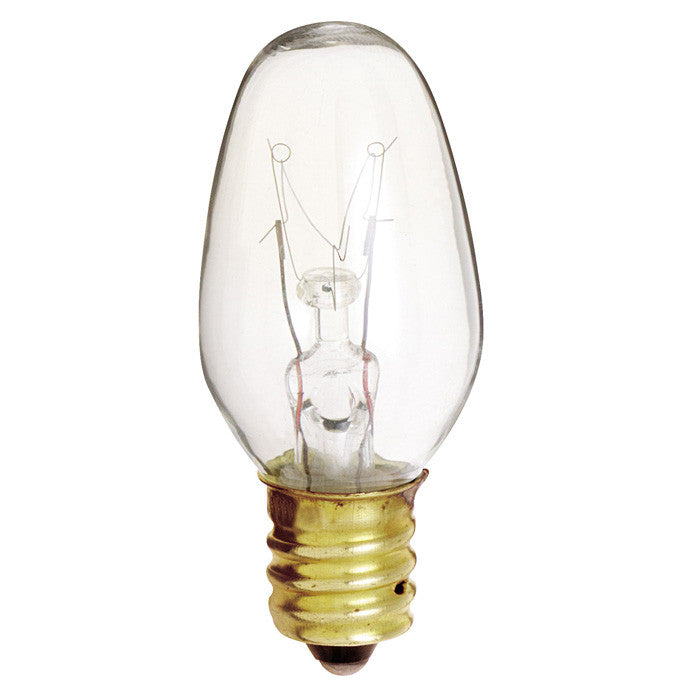Satco S4724 4W 120V C7 Clear E12 Candelabra Base Incandescent - 4 bulbs