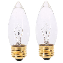 Satco S4740 40W 120V B10.5 Fan Bulb Clear E26 Incandescent bulb - 2 pack
