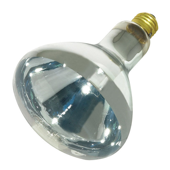 Satco S4750 125W 120V R40 Clear Heat E26 Medium Base Incandescent light bulb
