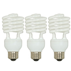 Satco S6276 3 Pack - 23W T2 Ultra Mini Spirals 5000K compact fluorescent bulbs