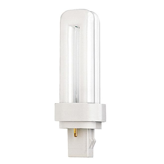 Satco S6314 9W Quad Tube 2-Pin G23-2 Plug-In base 2700K fluorescent bulb