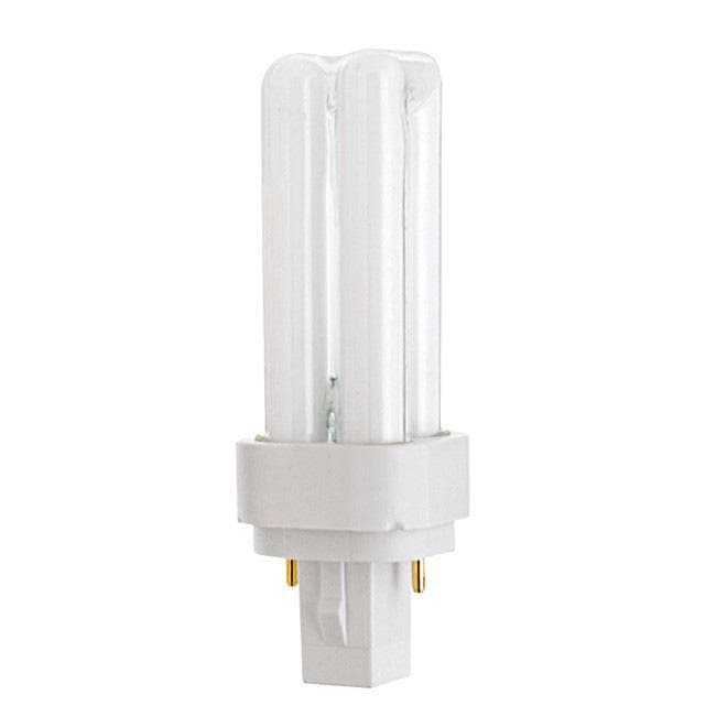 Satco S6315 9W Quad Tube 2-Pin G23-2 Plug-In base 3000K fluorescent bulb