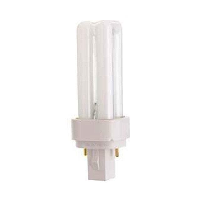 Satco S6316 9W Quad Tube 2-Pin G23-2 Plug-In base 3500K fluorescent bulb