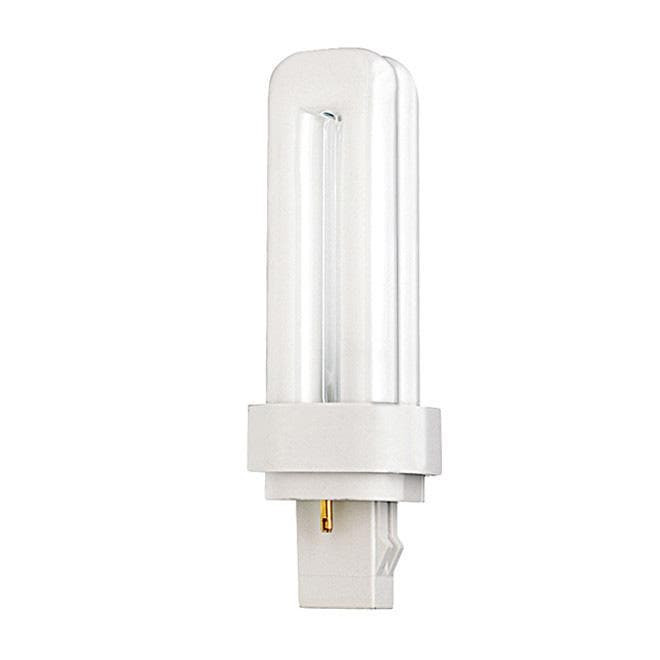 Satco S6318 13W Quad Tube 2-Pin GX23-2 Plug-In base 3000K fluorescent bulb