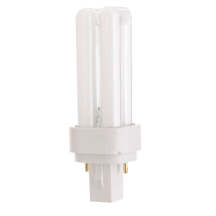 Satco S6714 9W Quad Tube 2-Pin G23-2 Plug-In base 2700K fluorescent bulb