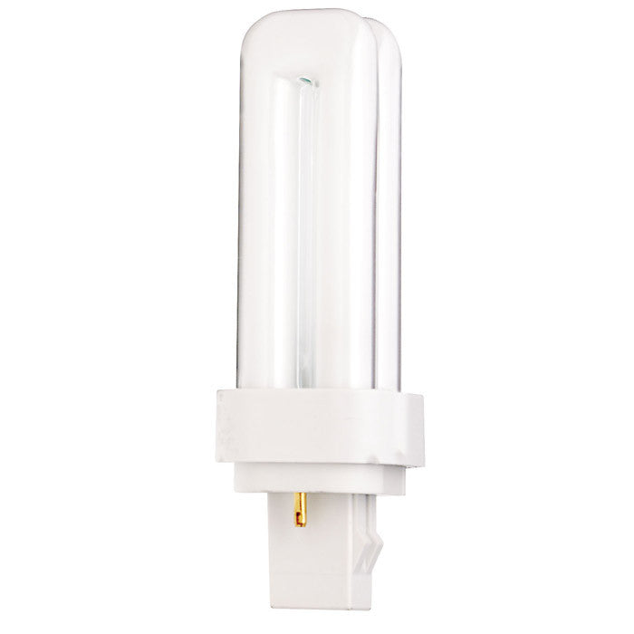 Satco S6718 13W Quad Tube 2-Pin GX23-2 Plug-In base 3000K fluorescent bulb