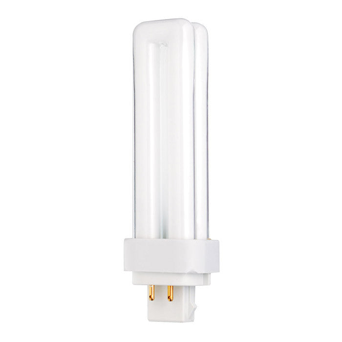 Satco S6730 13W Quad Tube 4-Pin G24Q-1 Plug-In base 3000K fluorescent bulb