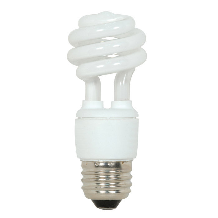 Satco S7213 9W T2 Ultra Mini Spiral Light Bulb Screw-In 5000K fluorescent bulb