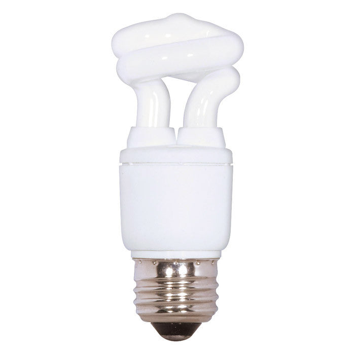Satco S7262 5W T2 Ultra Mini Spiral Light Bulb Screw-In 4100K fluorescent bulb
