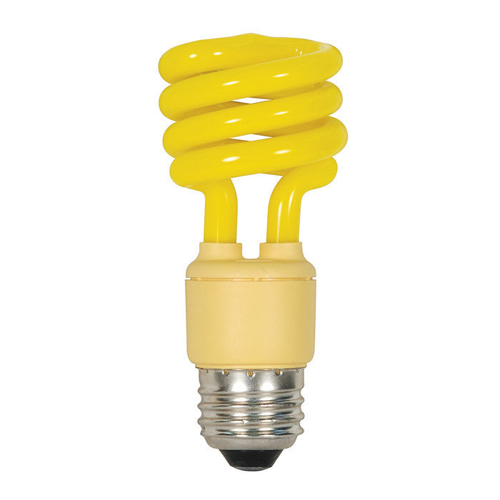 Satco S7267 13W T2 Ultra Mini Specialty Spirals Screw-In Bug Yellow cfl bulb