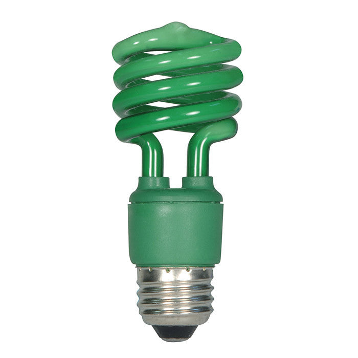 Satco S7272 13W T2 Ultra Mini Specialty Spirals Screw-In Green fluorescent bulb