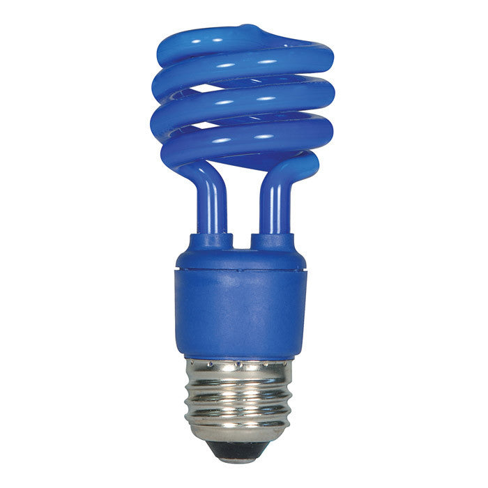 Satco S7273 13W T2 Ultra Mini Specialty Spirals Screw-In Blue fluorescent bulb