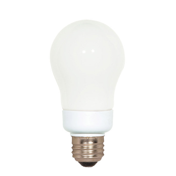 Satco S7282 7W A-Shape Screw-In 4100K fluorescent bulb
