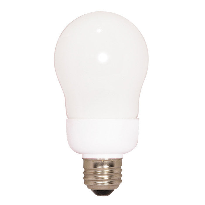 Satco S7284 9W A-Shape Screw-In 2700K fluorescent bulb