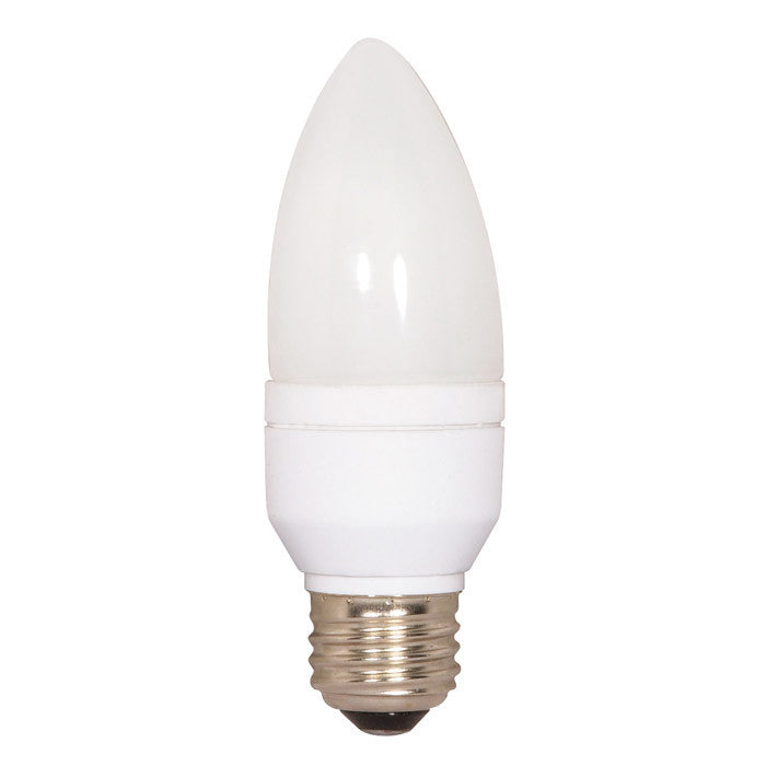 Satco 5W Torpedo Medium base CFL Warm White 2700K fluorescent bulb - 25w Equal