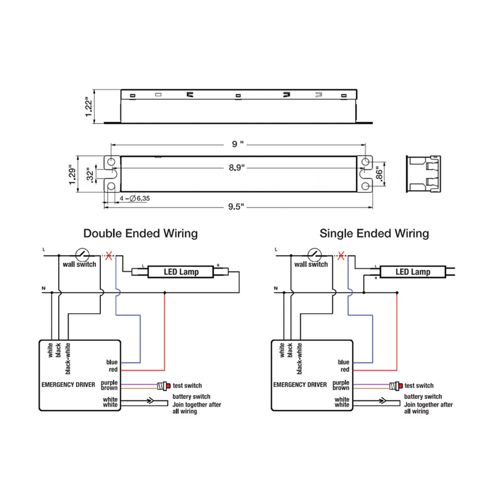 Satco T5 Led Wiring Diagram Great Engine Schematic Drivers 240v Emergency Battery Backup And Driver For T8 Ballast Rh Bulbamerica Com Light Fixture