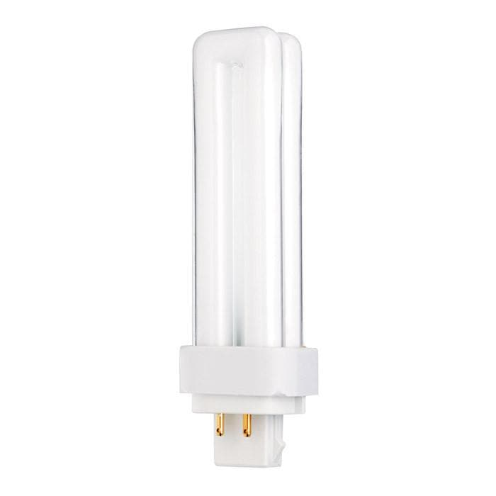 Satco S6330 13W Quad Tube 4-Pin G24Q-1 Plug-In base 3000K fluorescent bulb