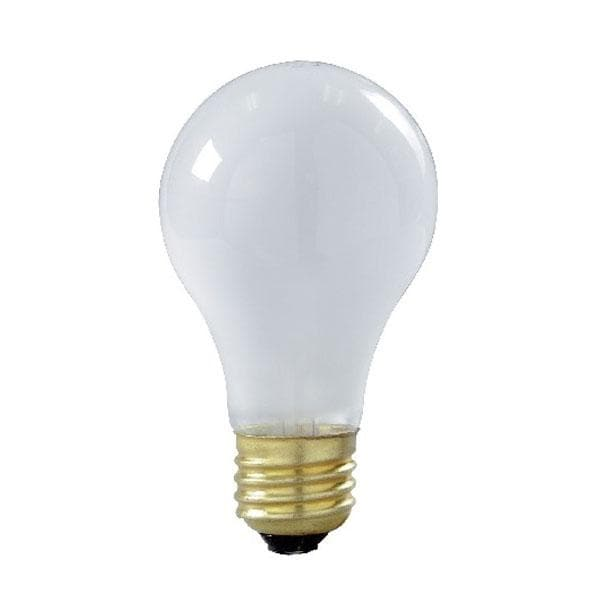 Frosted Light Bulbs >> Satco S8522 60w 130v A19 Frosted E26 Medium Base Incandescent Bulb 4 Pack