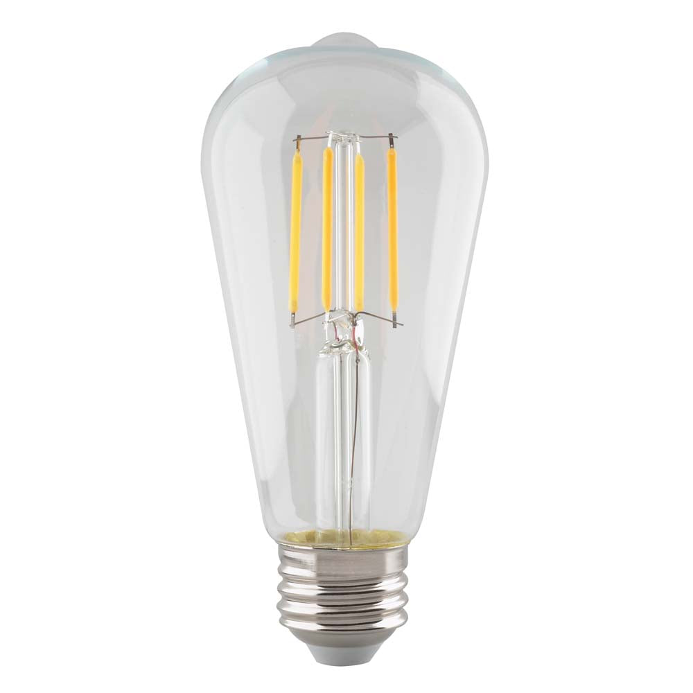 Satco 5.5w ST19 Antique Filament LED Clear - 2700K - 500Lm Dimmable Light Bulb