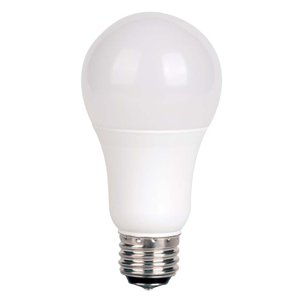 Satco 3/9/12w A19 LED 3-way Frosted 3000K Medium base 120 volts
