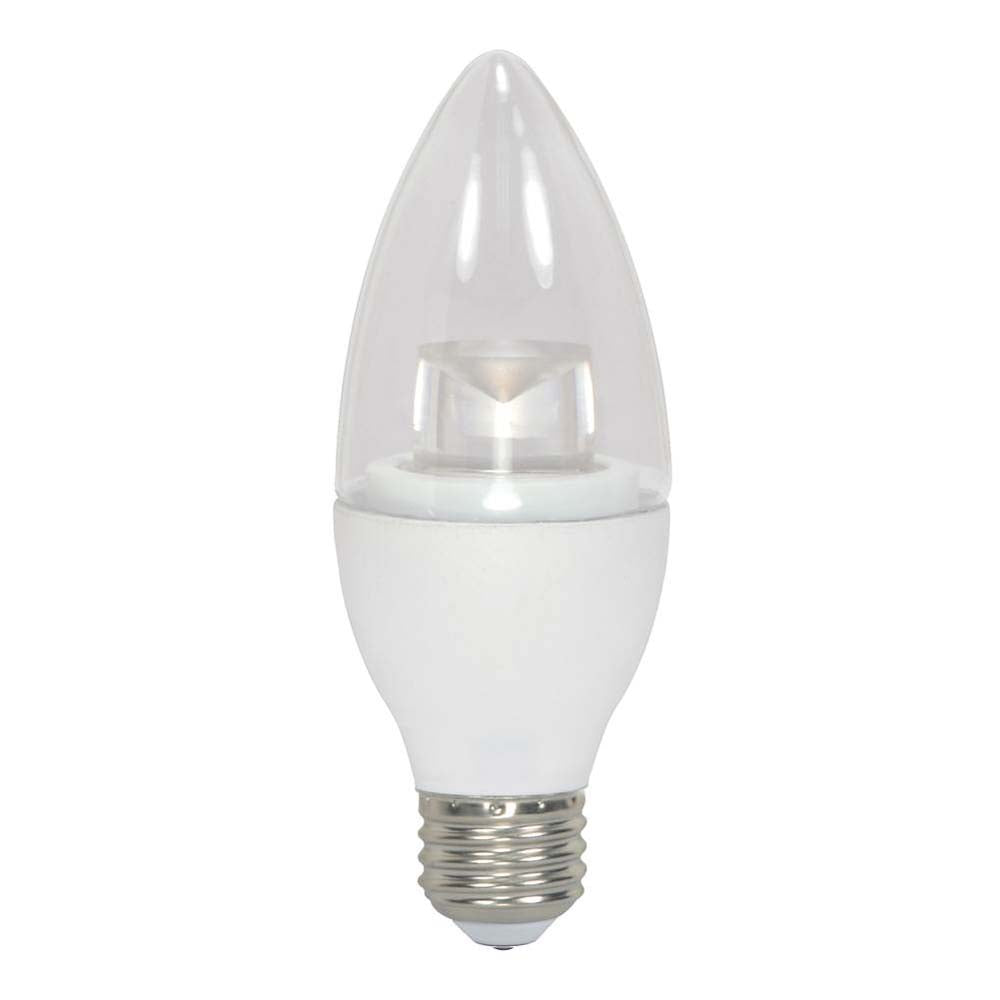 Satco 5w B11 LED 3000K Medium base 120 volts