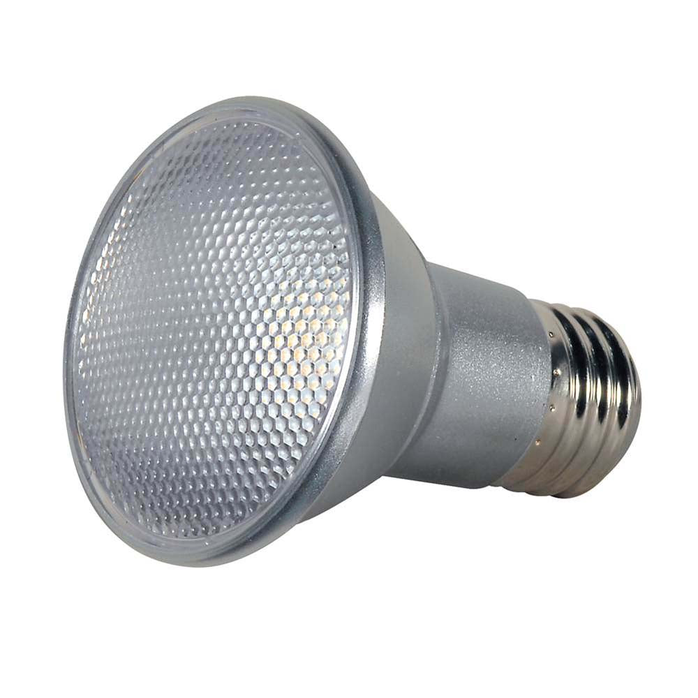 Satco 7w PAR20 LED 3000K 40 deg. beam spread Medium base 120 volts