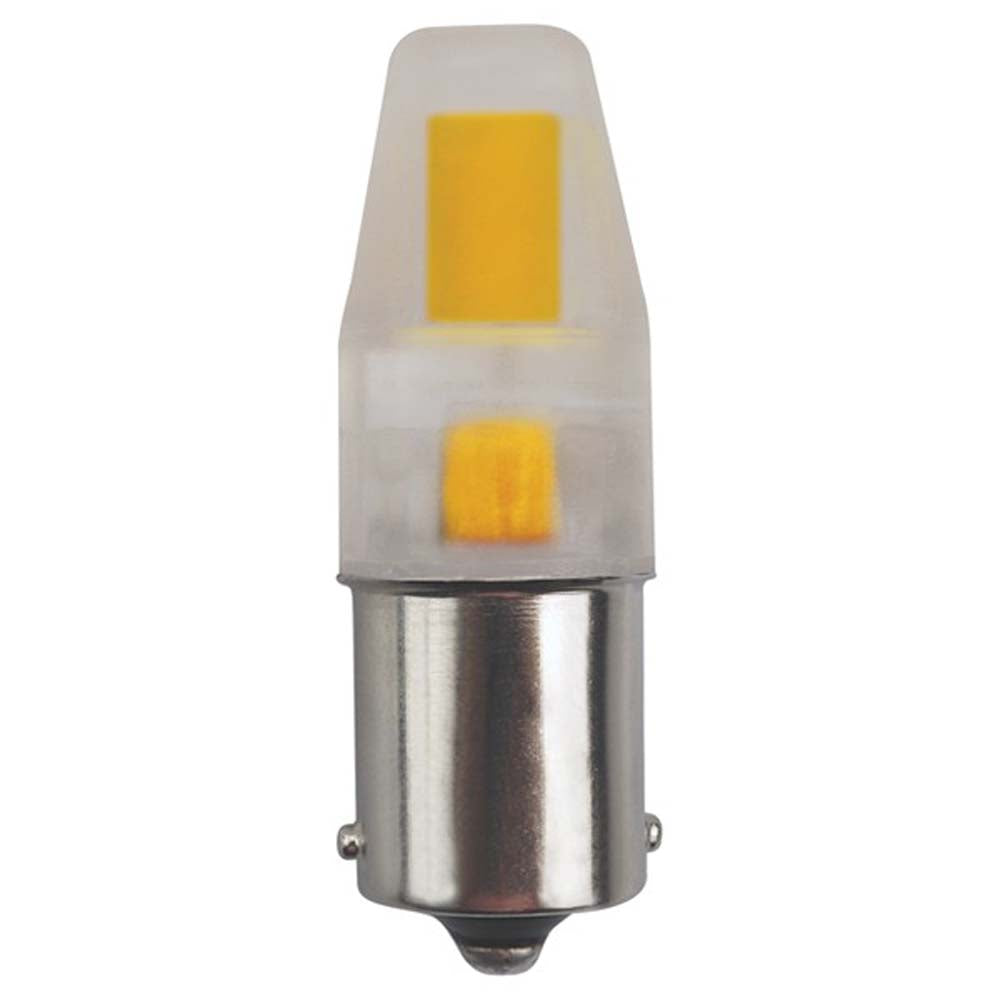 Satco 3watt LED BA15S base 3000K Non-Dimmable Clear 12volts Light Bulb