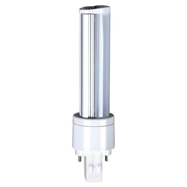 Satco S8727 6W LED PL 2-PIN 3500K Neutral White 525 Lumens GX23