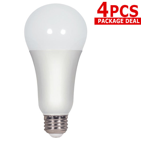 Satco 4pck 15.5w A21 LED 5000k E26 base 220 Non-Dimmable - 100w equiv.