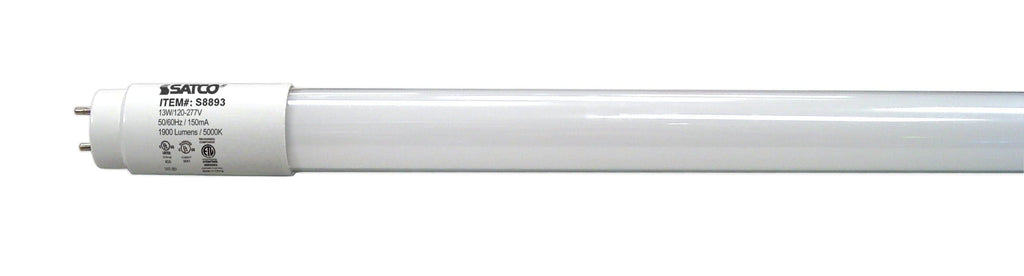 13W T8 LED Type A + Type B Medium bi-pin base 1900 lumens 5000K Natural Light