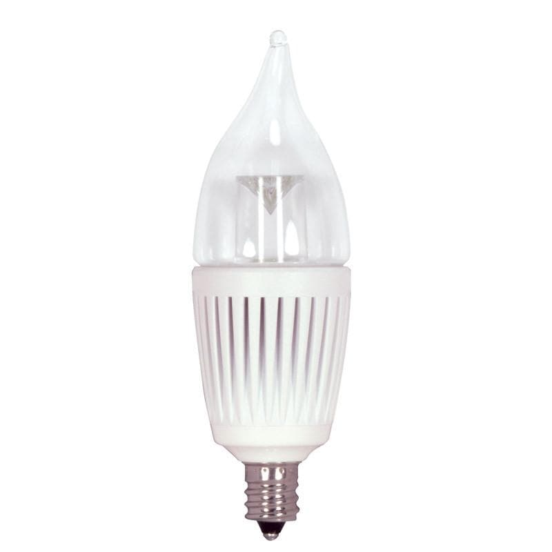 KolourOne 2.7W Candelabra Flame Twist 2700K LED Dimmable Light Bulb