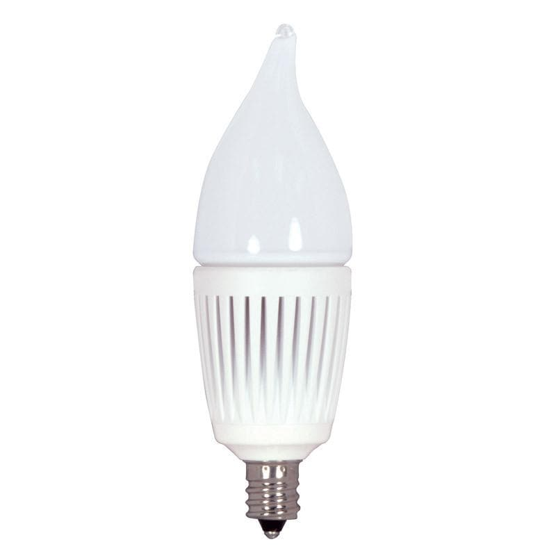 KolourOne 2.7W Candelabra Frost Flame Twist 5000K LED Dimmable Bulb