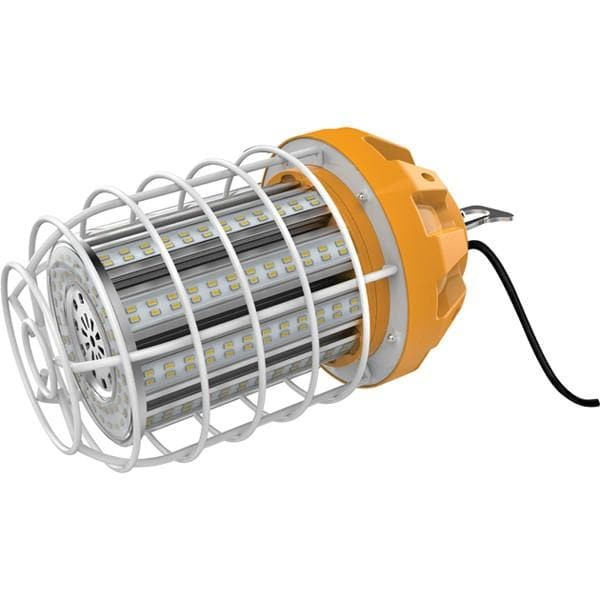 Hi-Bay LED 100W 120V 5000K Hi-lumen temporary caged lamp