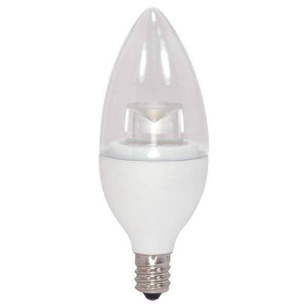 Satco 2.8w Candelabra base 3000k Dimmable LED Light Bulb - 25w equiv.