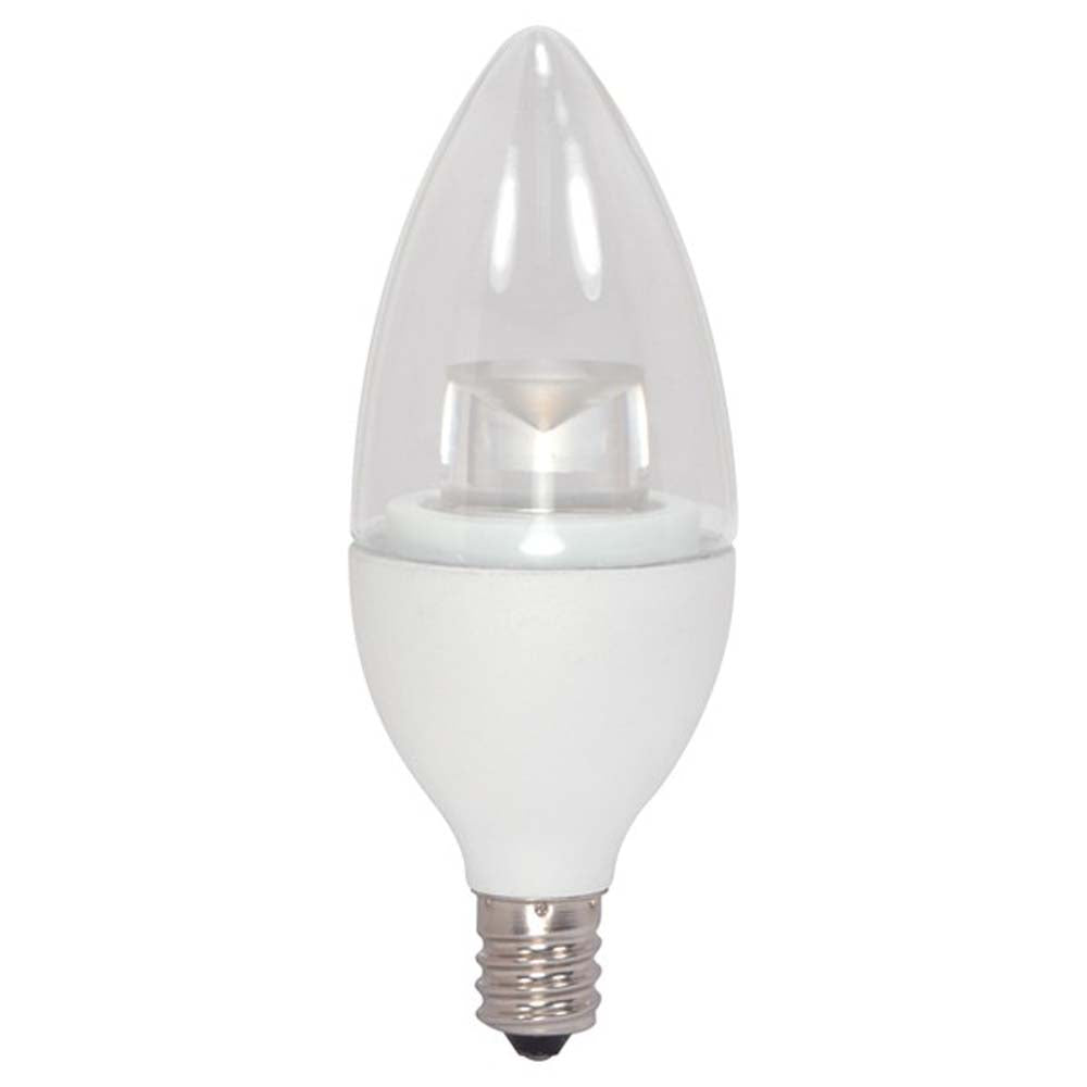 Satco 4.5w B11 Candelabra base 3000K Dimmable LED Light Bulb - 40w equiv.