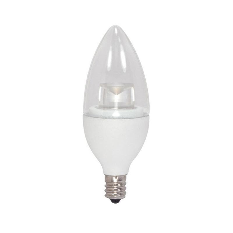 Satco 3w Candelabra base 3000k Dimmable LED Light Bulb - 25w equiv.