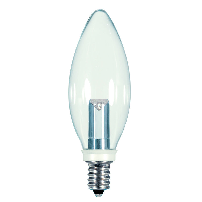 Satco 1w BA9.5 Candelabra base 2700K Non-Dimmable LED Light Bulb