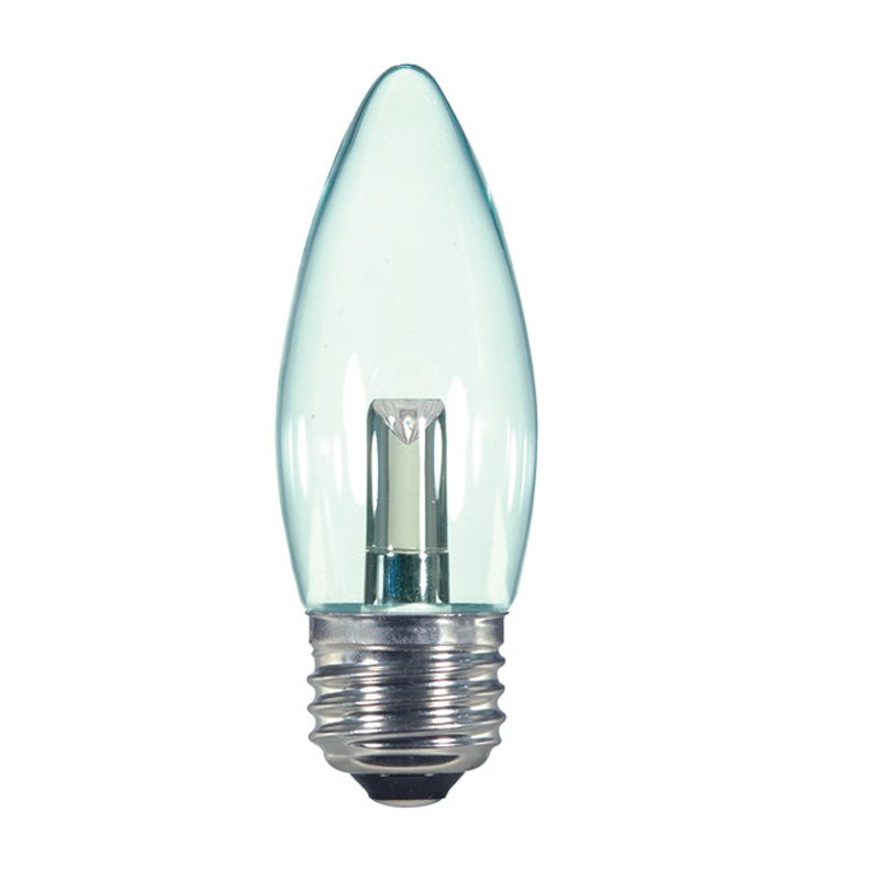 Satco 1.4W 2700K ETC E26 Base Candelabra Torpedo LED Light Bulb
