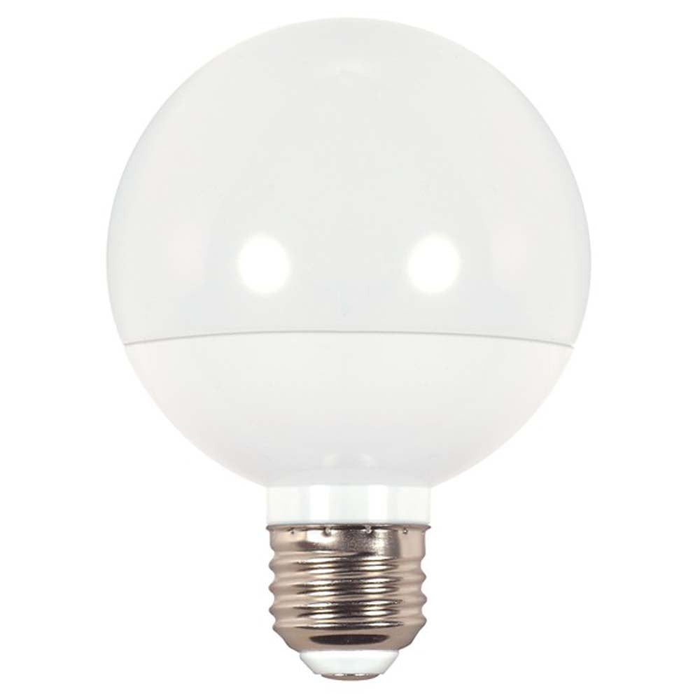 Satco 6w G25 Globe LED 450Lm 3000K Warm White Dimmable Bulb - 40w Equiv