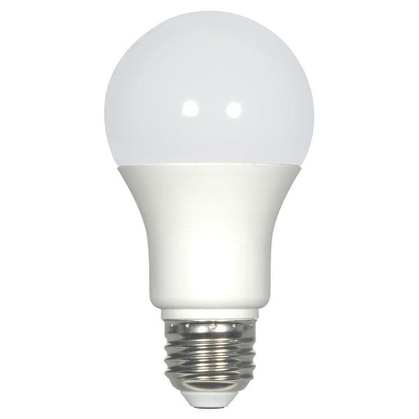 Satco S9209 9.8W 850Lm A19 LED Neutral White 3500K Frost -  60W Equiv.